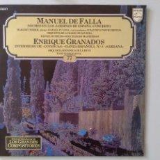 Discos de vinilo: LP MANUEL DE FALLA-ENRIQUE GRANADOS. Lote 136875894