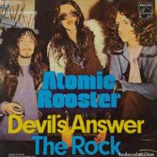 Discos de vinilo: ATOMIC ROOSTER, DEVIL'S ANSWER. SINGLE ESPAÑA SOLO PORTADA. Lote 137273554