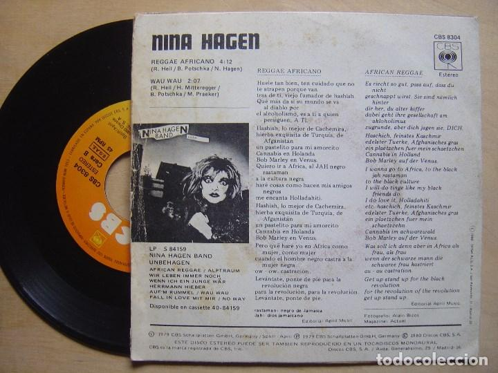Discos de vinilo: NINA HAGEN BAND reggae africano + wau wau - SINGLE 1979 - CBS - Foto 2 - 137312138