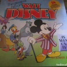 Discos de vinilo: THE GREATEST HITS OF WALT DINEY LP - ORIGINAL INGLES - RONCO RECORDS 1975 - STEREO/MONO. Lote 137328658