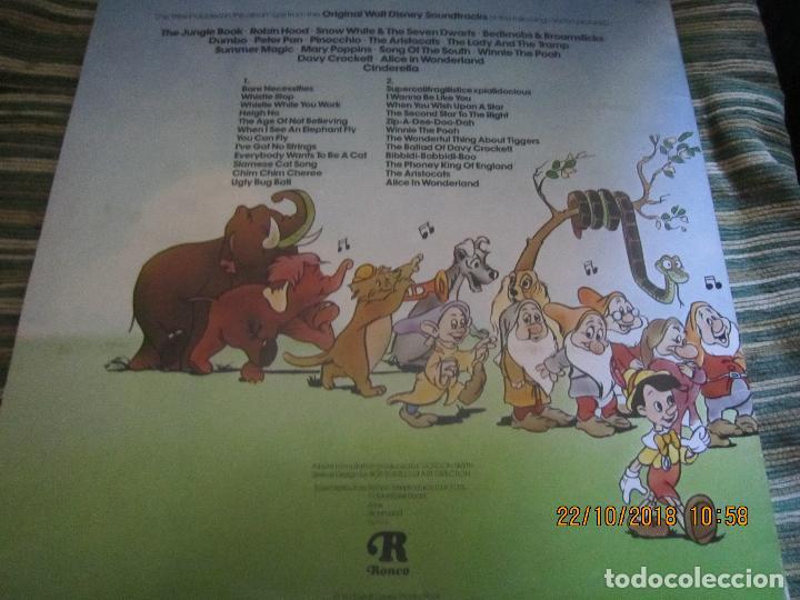 Discos de vinilo: THE GREATEST HITS OF WALT DINEY LP - ORIGINAL INGLES - RONCO RECORDS 1975 - STEREO/MONO - Foto 2 - 137328658