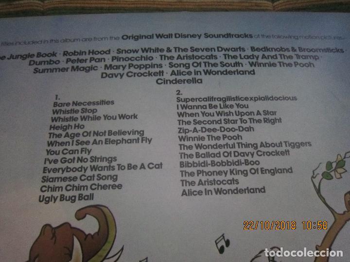Discos de vinilo: THE GREATEST HITS OF WALT DINEY LP - ORIGINAL INGLES - RONCO RECORDS 1975 - STEREO/MONO - Foto 3 - 137328658