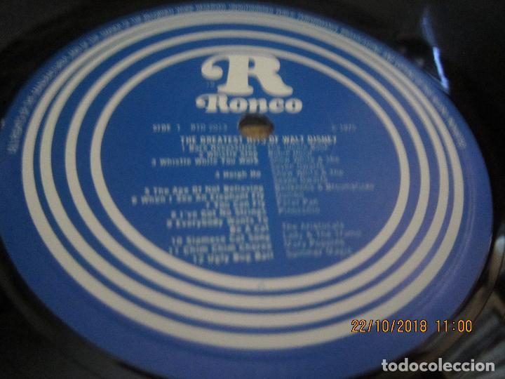 Discos de vinilo: THE GREATEST HITS OF WALT DINEY LP - ORIGINAL INGLES - RONCO RECORDS 1975 - STEREO/MONO - Foto 9 - 137328658