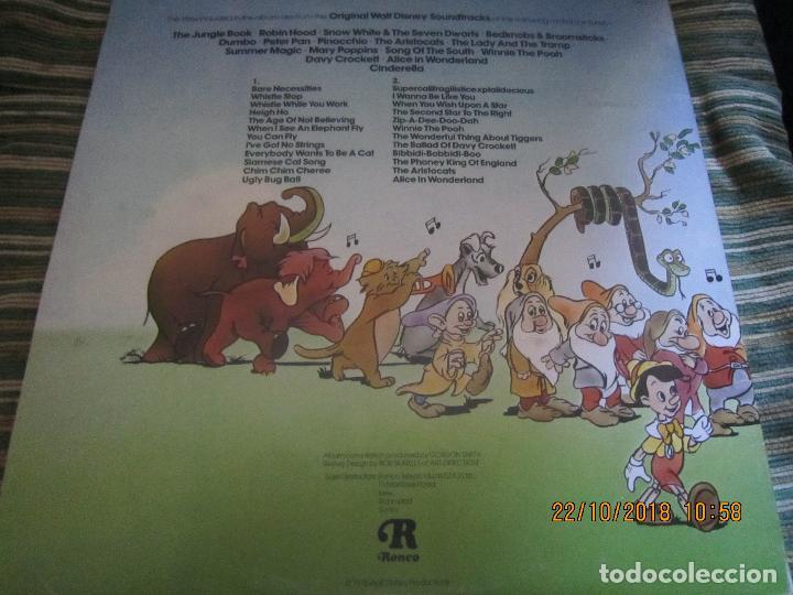 Discos de vinilo: THE GREATEST HITS OF WALT DINEY LP - ORIGINAL INGLES - RONCO RECORDS 1975 - STEREO/MONO - Foto 13 - 137328658