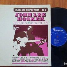 Discos de vinilo: JOHN LEE HOOKER BLUES AND GOSPEL TRAIN Nº1 LP 1969 DISCOPHON EDICION ESPAÑOLA SPAIN. Lote 137331798