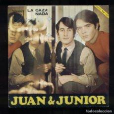 Discos de vinilo: JUAN & JUNIOR LA CAZA ZAFIRO 1984 COMO NUEVO. Lote 137336698