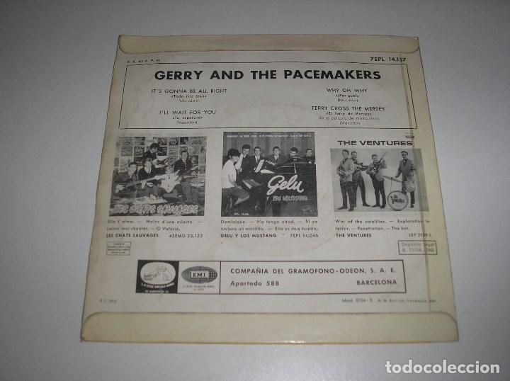 Discos de vinilo: GERRY AND THE PACEMAKERS - EP ESPAÑOL (1965) IT´S GONNA BE ALL RIGHT + I´LL WAIT FOR YOU + 2 - Foto 2 - 137352054