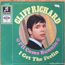 Discos de vinilo: CLIFF RICHARD I'LL COME RUNNIN SINGLE COLUMBIA EDIC ALEMANA DISCO EXC. Lote 137378734