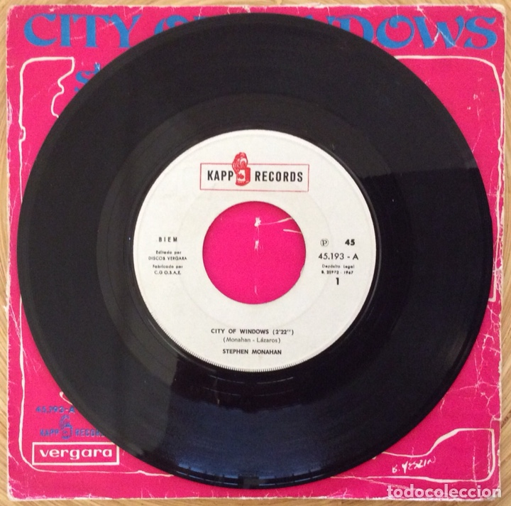 Discos de vinilo: STEPHEN MONAHAN CITY OF WINDOWNS EDIC ESPAÑA KAPP AÑO 1967 - Foto 2 - 137380022