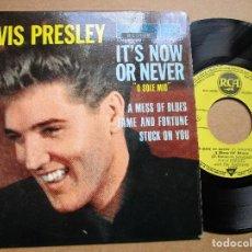 Discos de vinilo: ELVIS PRESLEY IT'S NOW OR NEVER - DISCO EDICION DE FRANCIA . Lote 137381702