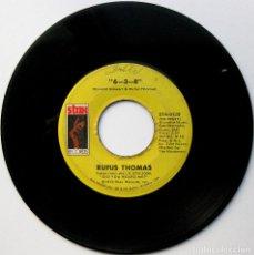 Discos de vinilo: RUFUS THOMAS - 6-3-8 / LOVE TRAP - SINGLE STAX 1972 USA BPY. Lote 137381790