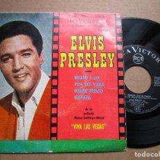 Discos de vinilo: ELVIS PRESLEY WHAT'D I SAY - VIVA LAS VEGAS - SOSPECHA - BESAME PRONTO - EP 1964. Lote 137382226