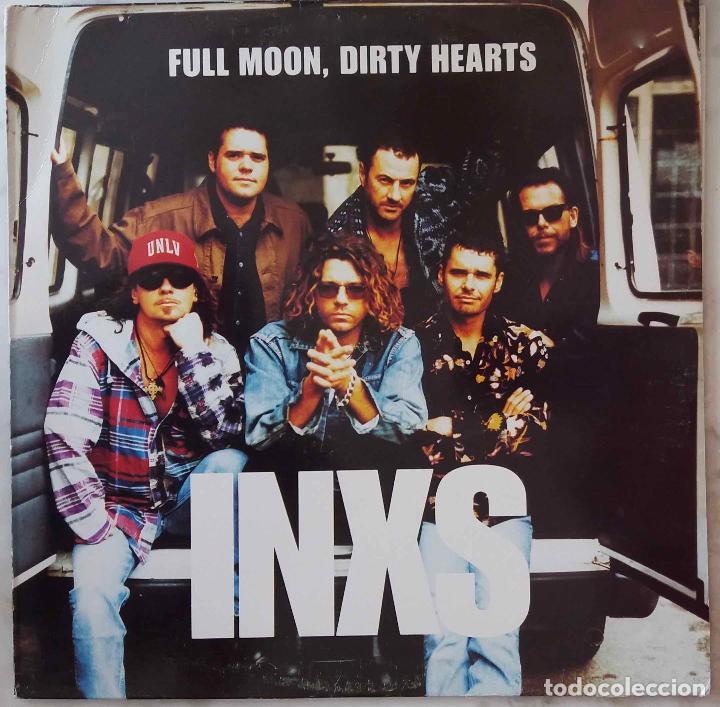 INXS. FULL MOON, DIRTY HEARTS. LP ESPAÑA CON FUNDA INTERIOR CON LETRAS. (Música - Discos - LP Vinilo - Pop - Rock - New Wave Extranjero de los 80)