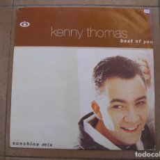 Discos de vinilo: KENNY THOMAS – BEST OF YOU - COOLTEMPO 1991 - MAXI - PLS -. Lote 137384862