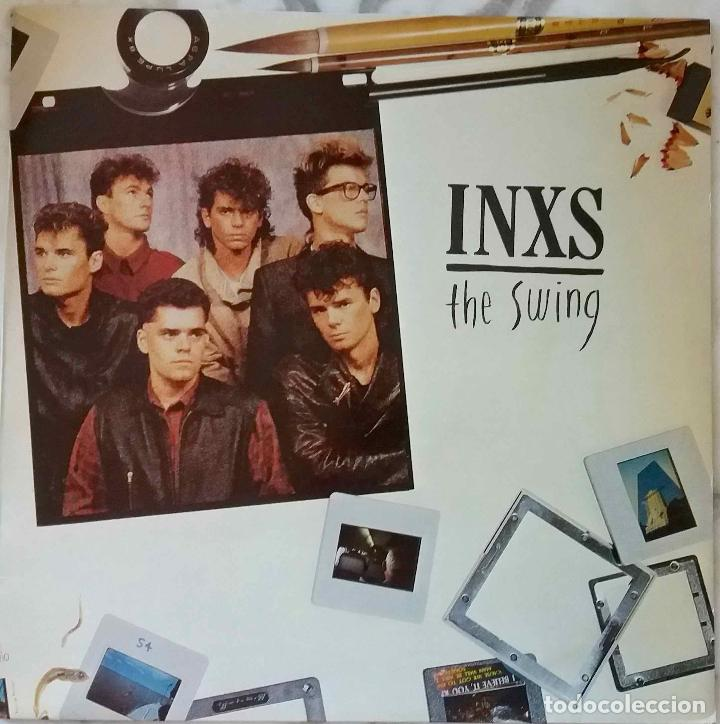 INXS. THE SWING. LP ESPAÑA CON FUNDA INTERIOR CON LETRAS (Música - Discos - LP Vinilo - Pop - Rock - New Wave Extranjero de los 80)