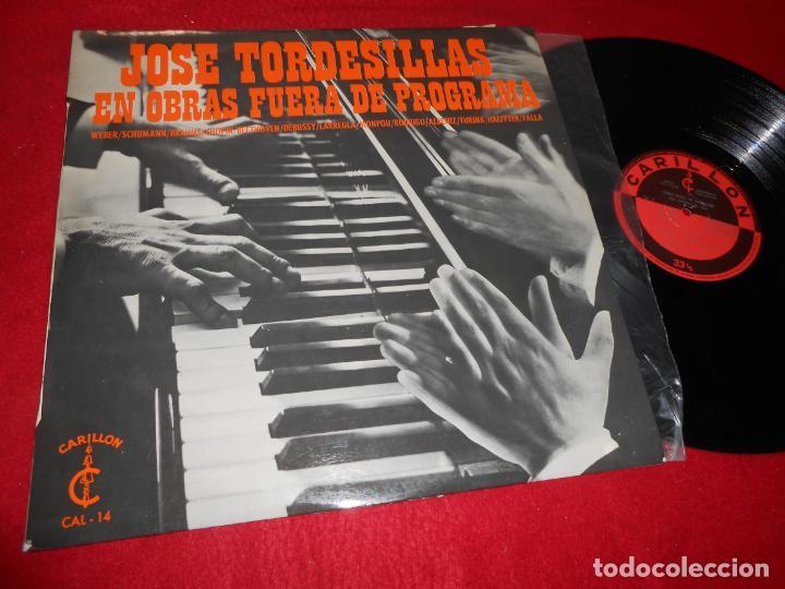 JOSE TORDESILLAS PIANO OBRAS FUERA DE PROGRAMA LP 1968 SPAIN LARREGLA+MONPOU+HALFFTER+FALLA+WEBER+++ (Música - Discos - LP Vinilo - Clásica, Ópera, Zarzuela y Marchas)
