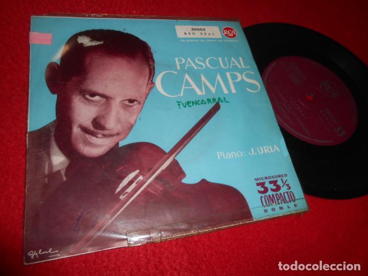 PASCUAL CAMPS VIOLIN+J.URIA PIANO CZARDAS/LA DANZA DE LA ALONDRA/SERENATA +1 EP 1960 RCA (Música - Discos de Vinilo - EPs - Clásica, Ópera, Zarzuela y Marchas)