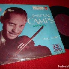 Discos de vinilo: PASCUAL CAMPS VIOLIN+J.URIA PIANO CZARDAS/LA DANZA DE LA ALONDRA/SERENATA +1 EP 1960 RCA. Lote 137400070