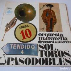 Discos de vinilo: ORQUESTA MARAVELLA - PASODOBLES - EP, GALLITO + 3, AÑO 1967. Lote 137404854