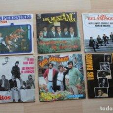Discos de vinilo: LOTE 6 SINGLES LOS RELAMPAGOS LOS PEKENIKES LOS MUSTANG LOS BRAVOS LOS GRITOS LOS MISMOS. Lote 137406854