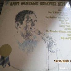 Discos de vinilo: ANDY WILLIAMS - GREATEST HITS LP - ORIGINAL U.S.A. - COLUMBIA1970 1ER PRENSAJE GATEFOLD COVER. Lote 223804181