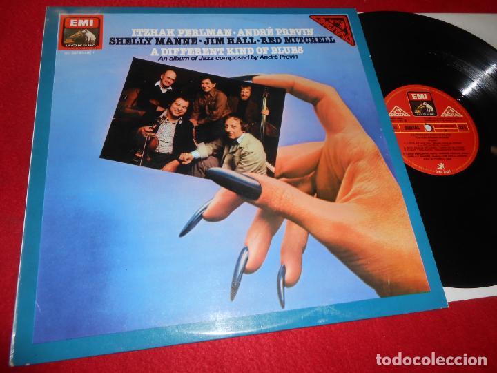 A DIFFERENT KIND OF BLUES LP 1981 EMI EDICION ESPAÑOLA SPAIN RECOPILATORIO PERLMAN+PREVIN+ETC (Música - Discos - LP Vinilo - Jazz, Jazz-Rock, Blues y R&B)