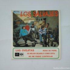 Discos de vinilo: LOS SALVAJES. LAS OVEJITAS. ROSA DE PAPEL. SINGLE. TDKDS11. Lote 165122625
