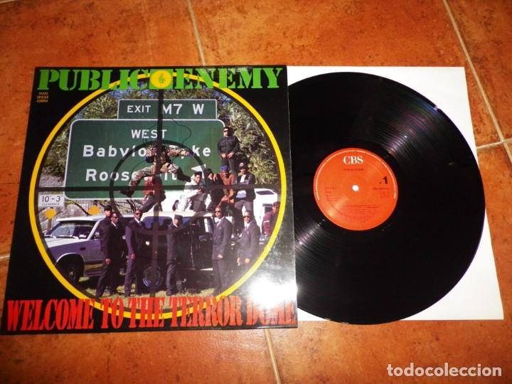PUBLIC ENEMY WELCOME TO THE TERROR DOME MAXI SINGLE VINILO 1989 ESPAÑA CONTIENE 3 TEMAS HIP HOP RAP (Música - Discos de Vinilo - Maxi Singles - Rap / Hip Hop)