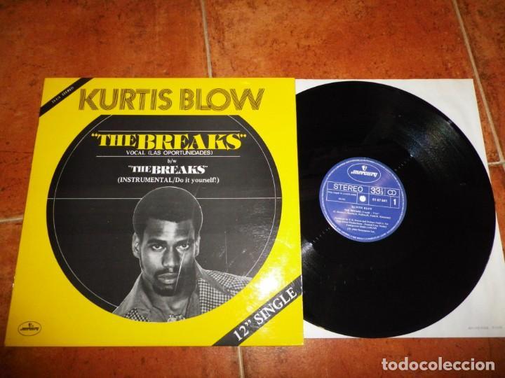 KURTIS BLOW THE BREAKS LAS OPORTUNIDADES) MAXI SINGLE VINILO 1980 ESPAÑA TIENE 2 TEMAS RAP HIP HOP (Música - Discos de Vinilo - Maxi Singles - Rap / Hip Hop)