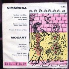 Discos de vinilo: BELTER NUEVO. FONDO ALMACÉN. CIMAROSA. MOZART. 1961. EP. Lote 137477002