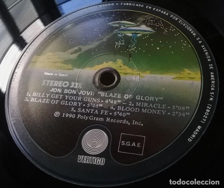 Discos de vinilo: Jon Bon Jovi-Blaze Of Glory, Vertigo-846 473-1, Phonogram-846 473-1 - Foto 3 - 137490538