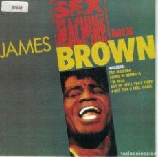 Discos de vinilo: JAMES BROWN - SEX MACHINE MIX (SINGLE PROMO ESPAÑOL, POLYDOR 1991). Lote 137501042