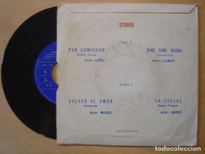 Discos de vinilo: ORQUESTA FANTASIA Y NARBO por compasion - EP PROMOCIONAL 1971 - BCD - Foto 2 - 137530414