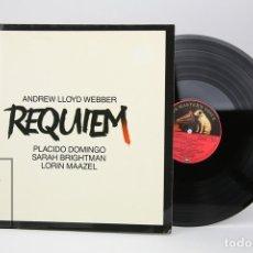 Discos de vinilo: DISCO LP DE VINILO -ANDREW LLOYD WEBBER, REQUIEM/PLACIDO DOMINGO -HIS MASTER'S VOICE,1985 ALEMANIA. Lote 137531444