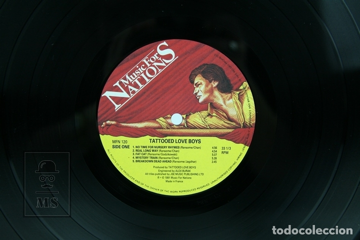 Discos de vinilo: Disco LP De Vinilo- Tattooed Love Boys/No Time For Nursery Rhymes - Music for Nations, 1982 Francia - Foto 2 - 137531713