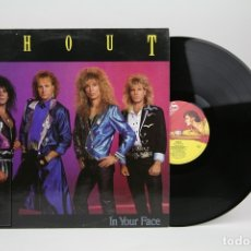 Discos de vinilo: DISCO LP DE VINILO - SHOUT / IN YOUR FACE - MUSIC FOR NATIONS - AÑO 1989 - CON ENCARTE - ENGLAND. Lote 137531824