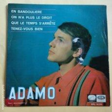 Discos de vinilo: EP ADAMO - EN BANDOULIERE. Lote 137547982