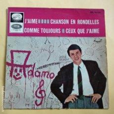 Discos de vinilo: EP ADAMO - J' AIME. Lote 137548070