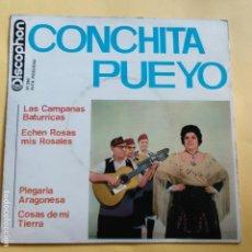 Discos de vinilo: EP CONCHITA PUEYO - LAS CAMPANAS BATURRICAS. Lote 137550146