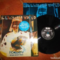 Discos de vinilo: LIL LOUIS & THE WORLD I CALLED U (ORIGINAL MIX) MAXI SINGLE VINILO 1989 UK ENCARTE 2 TEMAS. Lote 137550766