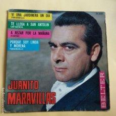 Discos de vinilo: EP JUANITO MARAVILLAS - VI UINA JARDINERA UN DIA. Lote 137551126