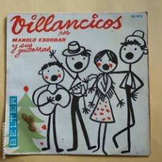 Discos de vinilo: EP MANOLO ESCOBAR - VILLANCICOS. Lote 137551822
