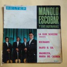 Discos de vinilo: EP MANOLO ESCOBAR - LA FLOR SILVESTRE. Lote 137551850
