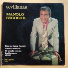 Discos de vinilo: EP MANOLO ESCOBAR - SI YO ME LLAMO MANOLO. Lote 137551970