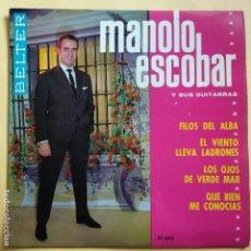 Discos de vinilo: EP MANOLO ESCOBAR - FILOS DEL ALBA. Lote 137551990