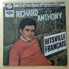 Discos de vinilo: EP RICHARD ANTHONY - JE ME SUIS SOUVENT DEMANDE. Lote 137553358