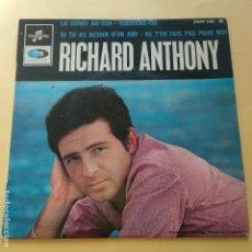 Discos de vinilo: EP RICHARD ANTHONY - LA CORDE AU COU. Lote 137553574