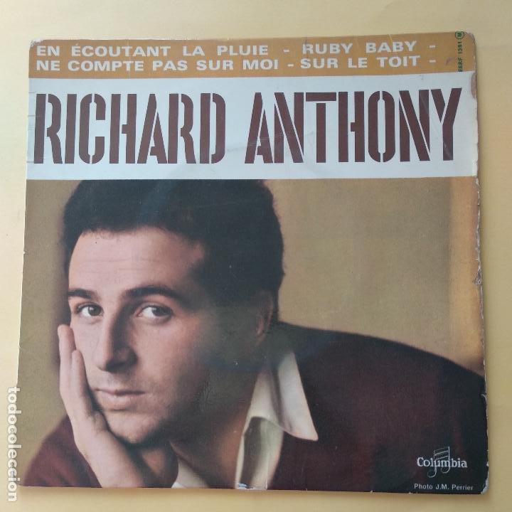 EP RICHARD ANTHONY - EN ECOUTANT LA PLUIE (Música - Discos de Vinilo - EPs - Otros estilos)