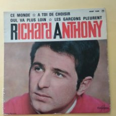 Discos de vinilo: EP RICHARD ANTHONY - CE MONDE. Lote 137553626