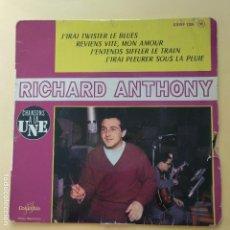 Discos de vinilo: EP RICHARD ANTHONY - J' IRAI TWISTERE LE BLUES. Lote 137553706